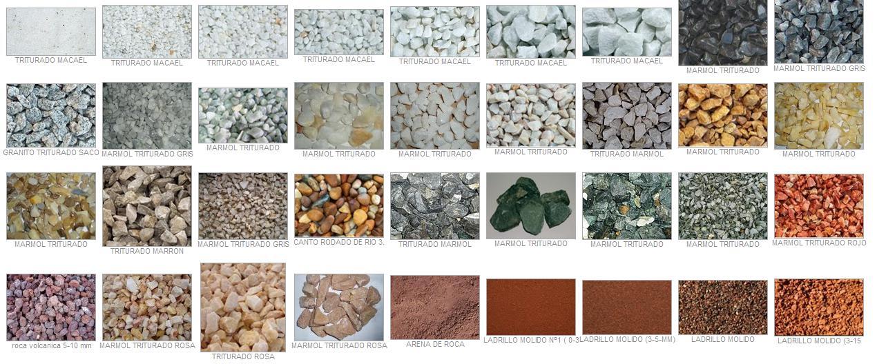 Venta de triturados piedra para jard n y decoraci n fotos for Piedras negras para jardin