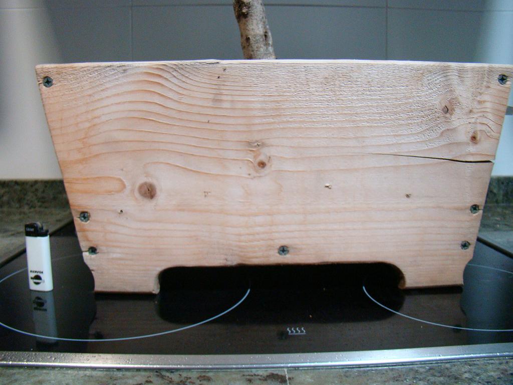 Maceta de madera para bons i - Maceta de madera ...